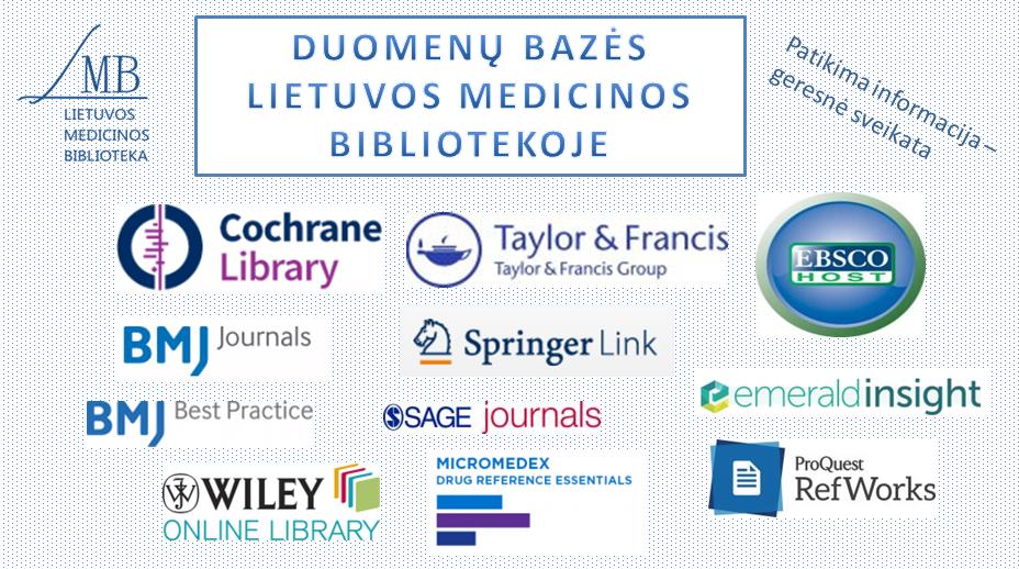 Duomenų bazės Lietuvos medicinos bibliotekoje