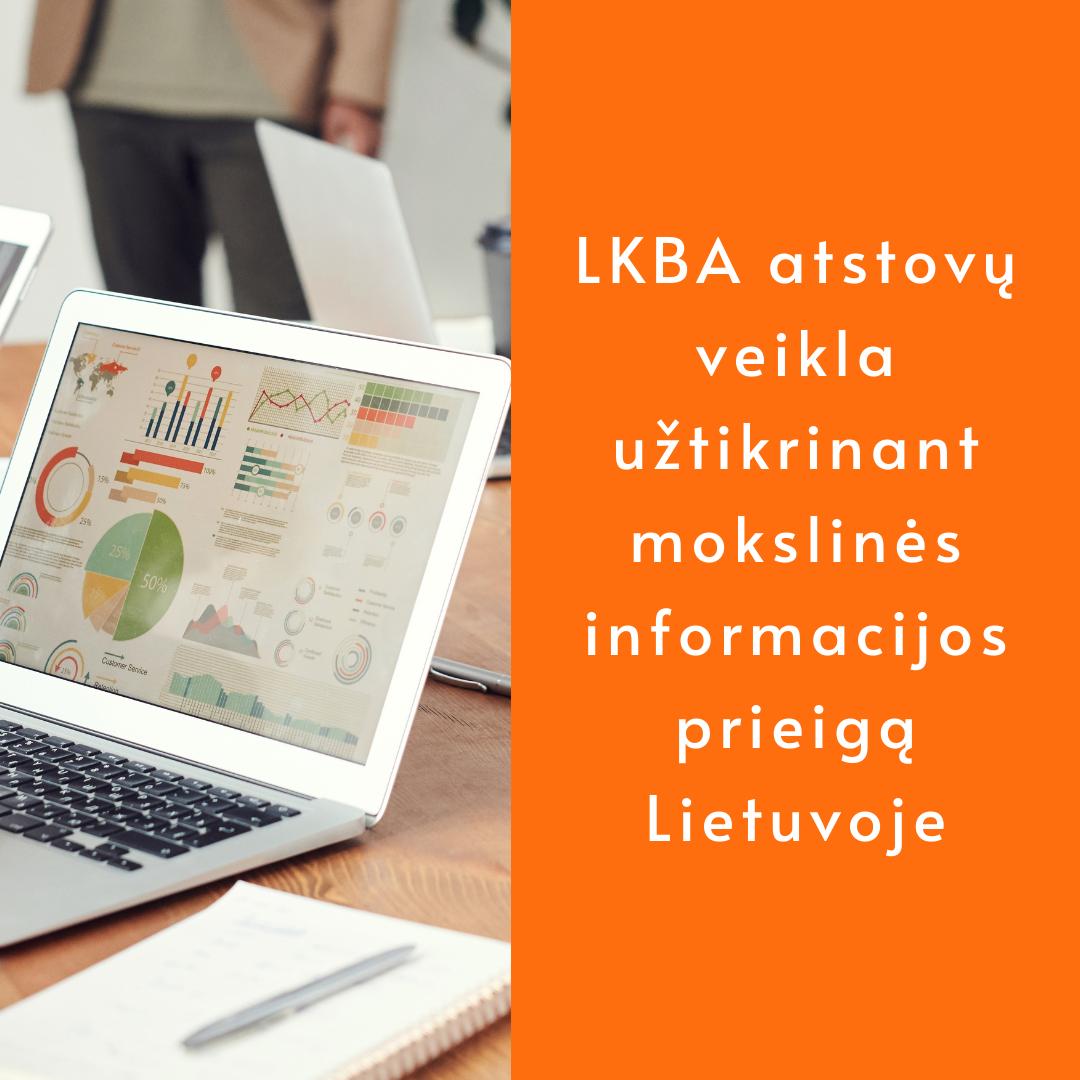 LKBA atstovų veikla užtikrinant mokslinės informacijos prieigą Lietuvoje